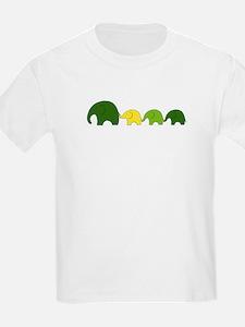 Elephant Family Kids T-Shirt