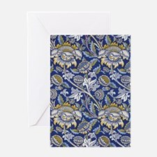William Morris Floral Design Greeting Card