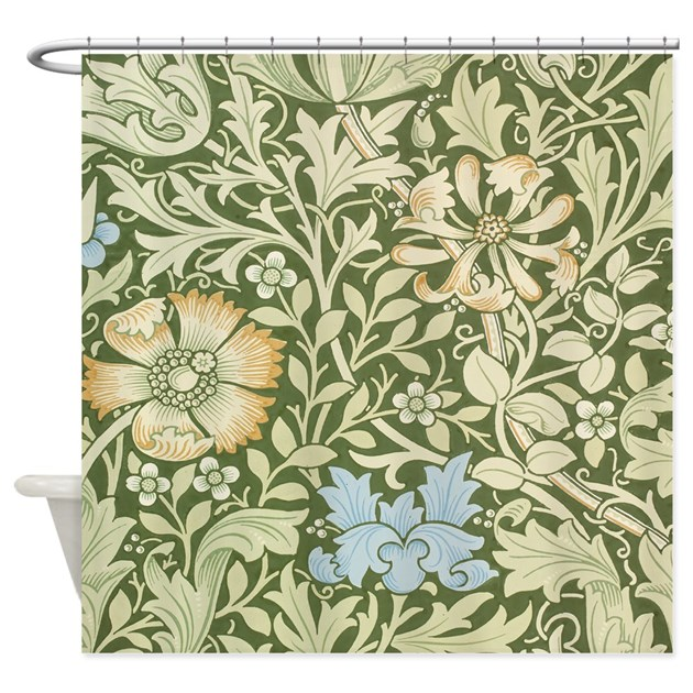 William Morris Floral Design Shower Curtain By FineArtDesigns
