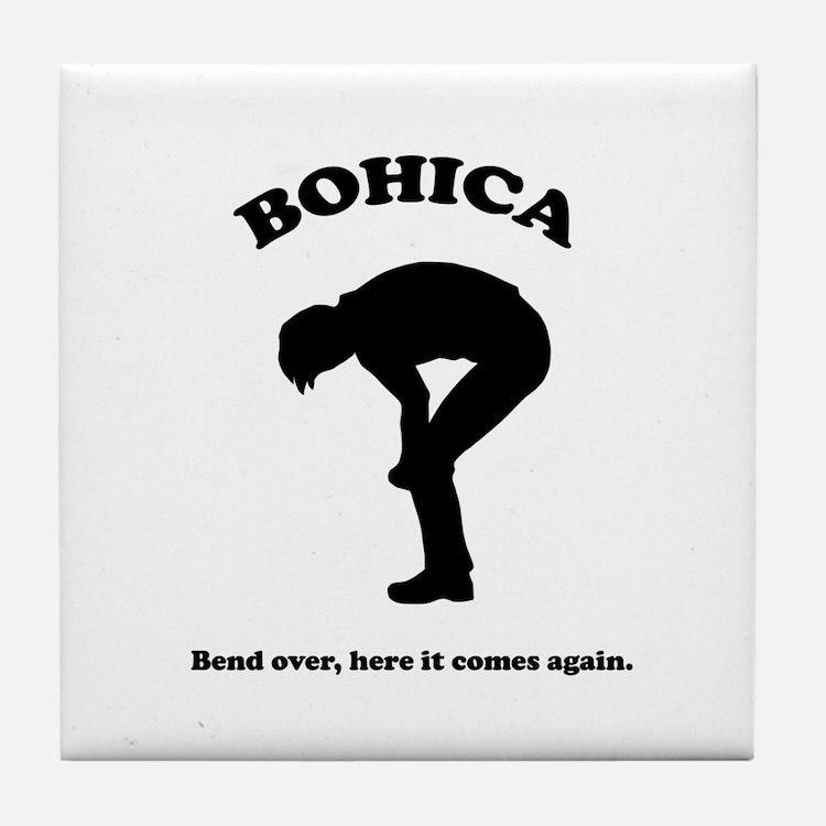 Bohica Bend Over Tile Coaster
