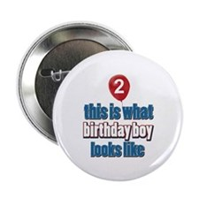 "2 year old balloon designs 2.25"" Button"