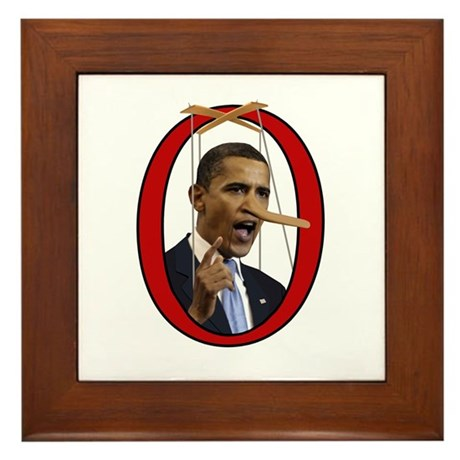 Pinocchiobama Framed Tile