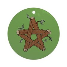Celtic Log Star Ornament (Round)