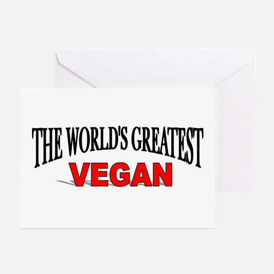"""""""The World's Greatest Vegan"""" Greeting Cards (Packa"""