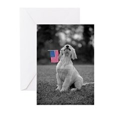 4th of July Patriotic Puppy Greeting Cards (Pk of