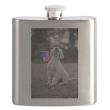 4th of July Patriotic Puppy Flask