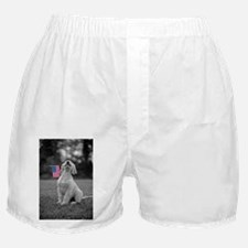4th of July Patriotic Puppy Boxer Shorts