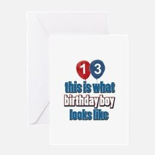 13 year old balloon designs Greeting Card