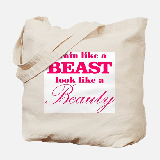 Train like a beast look like a beauty pink Tote Ba