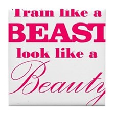 Train like a beast look like a beauty pink Tile Co