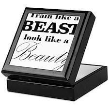 Train like a beast look like a beauty Keepsake Box