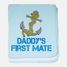 Daddys First Mate baby blanket