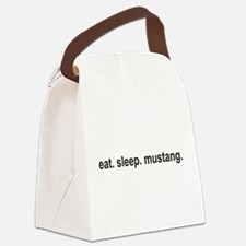 eat sleep mustang copy.png Canvas Lunch Bag