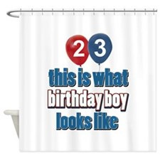 23 year old balloon designs Shower Curtain
