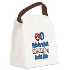 24 year old balloon designs Canvas Lunch Bag