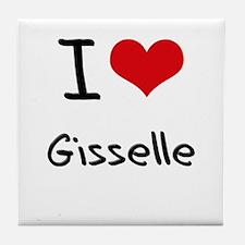 I Love Gisselle Tile Coaster