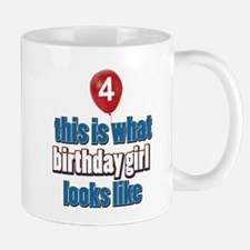 4 year old birthday girl designs Mug