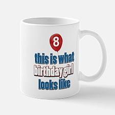 8 year old birthday girl designs Mug