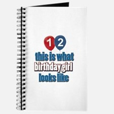 12 year old birthday girl designs Journal