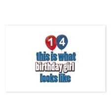 14 year old birthday girl designs Postcards (Packa
