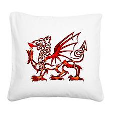 Welsh Dragon Square Canvas Pillow