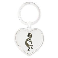 Kokopelli Heart Keychain
