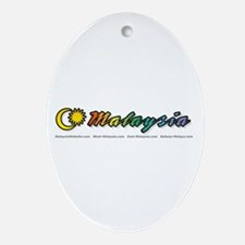 MalaysiaWebsite.com Oval Ornament