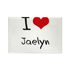 I Love Jaelyn Rectangle Magnet