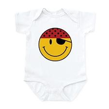 Funny Pirate Smiley Infant Bodysuit