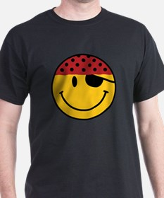 Funny Pirate Smiley T-Shirt