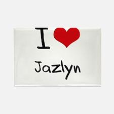 I Love Jazlyn Rectangle Magnet