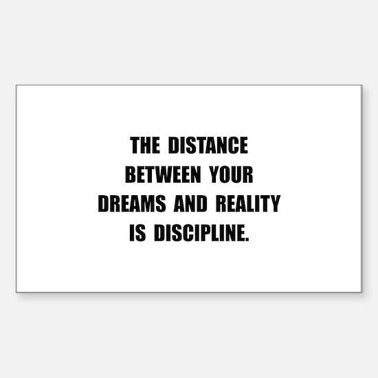 Discipline Quote Decal