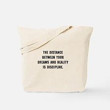 Discipline Quote Tote Bag