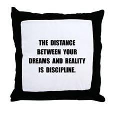 Discipline Quote Throw Pillow