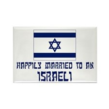 Happily Married To Israeli Rectangle Magnet