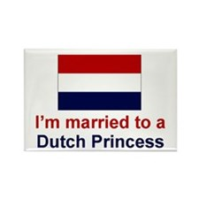 Married To A Dutch Princess Rectangle Magnet
