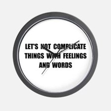 Feelings Words Wall Clock