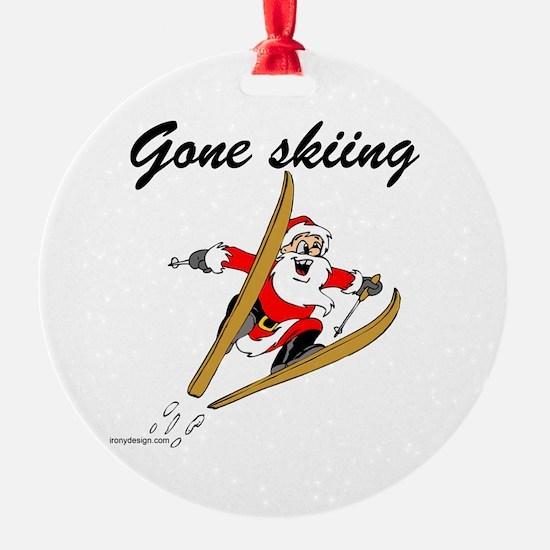 Santa's Gone Skiing Ornament