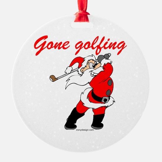 Santa's Gone Golfing Ornament