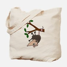 Possom Hanging from Tree Branch Tote Bag