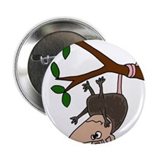 """Possom Hanging from Tree Branch 2.25"""" Button"""