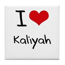 I Love Kaliyah Tile Coaster