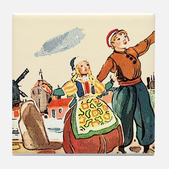 Dutch Life Tile Coaster