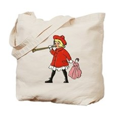 Girl with horn Tote Bag