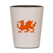 Orange Gargoyle Dragon Shot Glass