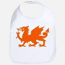 Orange Gargoyle Dragon Bib