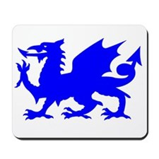 Blue Gargoyle Dragon Mousepad