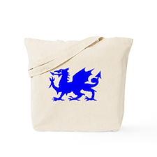 Blue Gargoyle Dragon Tote Bag