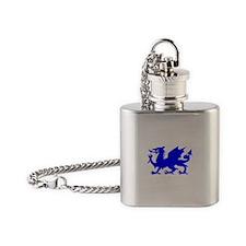 Blue Gargoyle Dragon Flask Necklace