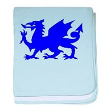 Blue Gargoyle Dragon baby blanket